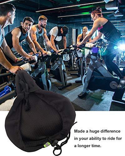 MSDADA Gel Bike Seat Cover Padded, Soft Bike Seat Cushion for Men&Women, Comfortable Bike Accessories for Mountain Bike Seat, Cruiser, Road Bike Saddle, Outdoor Indoor Cycling