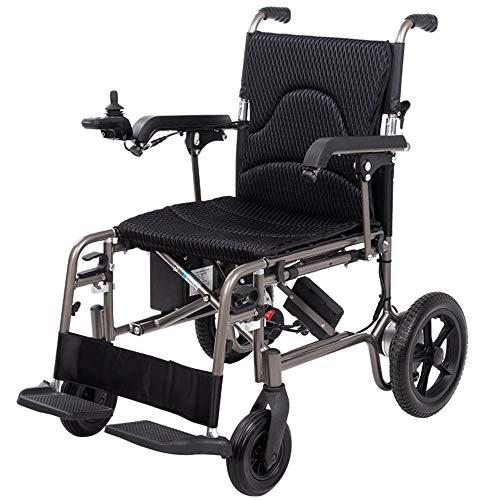 HGGLY Elektrische Rollstühle Leichter Faltbar Rollator Mit Controller Und Pedalen Für Personen Mit Körperlichen Beeinträchtigungen Und Ältere Menschen