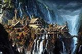 DMTWSM The Elf Castle Plane Puzzle Rompecabezas de Madera Rompecabezas Tamaño Paisaje de fantasía para Adultos Adolescentes Rompecabezas Juguetes1000 Piece