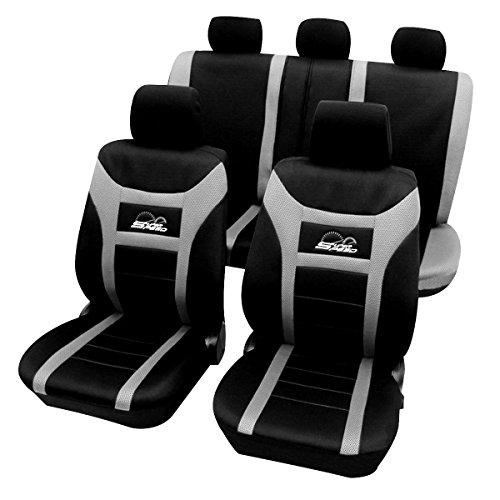 EUGAD 0086QCZT Sitzbezüge für Auto Schonbezüge Sitzbezug Schonbezug Set Werkstatt Auto universal Autositzschoner Schwarz-grau