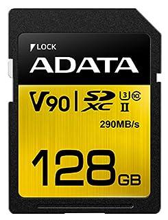 ADATA Premier One V90 Memoria Flash 128 GB SDXC Clase 10 UHS-II - Tarjeta de Memoria (128 GB, SDXC, Clase 10, UHS-II, 290 MB/s, Negro, Oro) (B072HR7M7Z) | Amazon price tracker / tracking, Amazon price history charts, Amazon price watches, Amazon price drop alerts