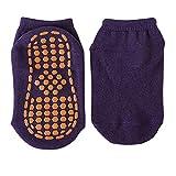 2 Paar Baby Kinder Baumwolle rutschfeste Bodensocken Trampolinsocken Erwachsene Bequeme tragen widerstandsfähige rutschfeste Sport Yoga Socken Fußmassage-DKpurple-2-M for 5-12years