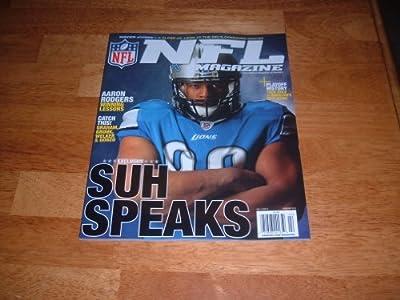 NFL Magazine, February 2012-Ndamukong Suh-Detroit Lions on cover. Volume 1, Issue 2 of new NFL magazine.
