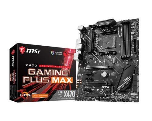 MSI X470 GAMING PLUS MAX - Placa base Performance Gaming (4 PCI-E Gen3 , Audio...