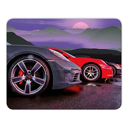 Addies Mousepad 'Porsche' schönes Mauspad Motiv in feiner Cellophan Geschenk-Verpackung mit Kautschuk Untermaterial, 24x19cm - MP12
