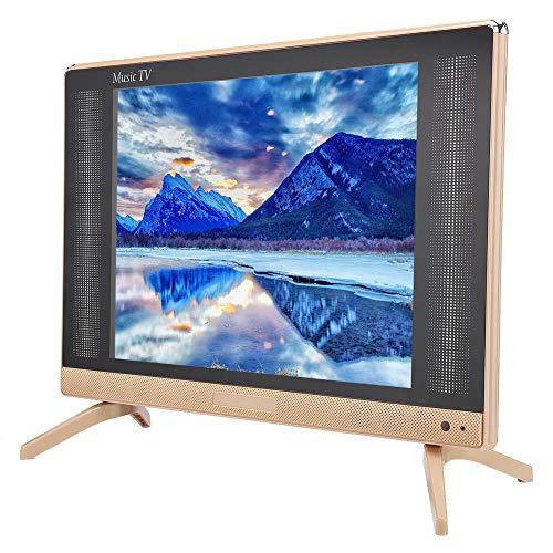 TV de 24 Pulgadas, TV LCD HD de 24 Pulgadas, TV Inteligente HD de 1366x768, Mini televisión portátil con Altavoz de Graves súper Genial, HDMI, USB, VGA, Puerto TV/AV(Enchufe UE)