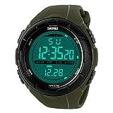 SKMEI Reloj deportivo deportivo con cronógrafo y función de calendario para hombre