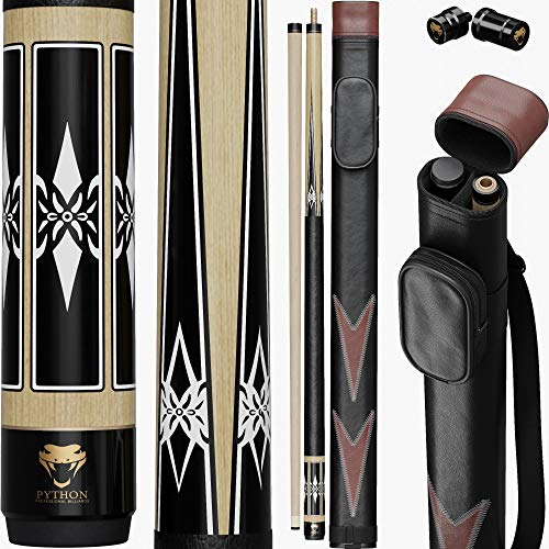 Big Save! Python - 2- Pieces Pool Cue Stick 100% Canadian Maple Wood. Professional Billiard Pool Cue...