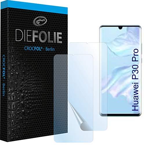 Crocfol Schutzfolie vom Testsieger [2 St.] kompatibel mit Huawei P30 Pro - selbstheilende Premium 5D Langzeit-Panzerfolie inkl. Veredelung - für vorne, hüllenfreundlich