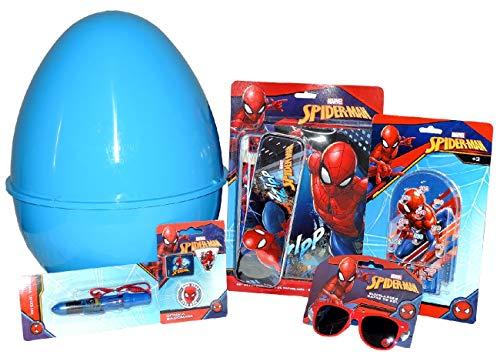 ug Uovo di Pasqua Gigante con Soprese Spiderman in Plastica Blu Grande Uovo Contenitore