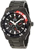 Swiss Precimax Men's SP12050 Formula-7 XT Black Dial with Black Stainless-Steel Band Watch