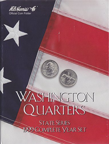 1999 COMPLETE YEAR SET STATE SERIES QUARTERS HARRIS 8HRS2582 COIN; ALBUM, BINDER, BOARD, BOOK, CARD, COLLECTION, FOLDER…