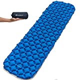 JANISSARY Camping Sleeping Pad Inflatable Compact and Waterproof Lightweight Sleeping Bag for Backpacking Hiking and Hammock Sleep Comfortably in The Outdoors Perfect Size Mattress
