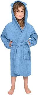 Hot! Baby Boys Girls Hooded Sleepwear GoodLock Children Kids Solid Flannel Bathrobes Towel Night-Gown Coats