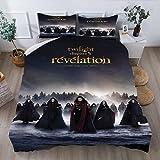 Aatensou The Twilight saga - Juego de funda nórdica 100% microfibra para dormitorio juvenil (6,220 x 260 cm + 50 x 75 cm)
