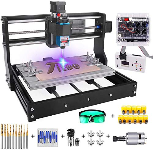Upgrade Version 2 in 1 3000mW Engraver CNC 3018 Pro GRBL Control DIY Mini CNC Machine, 3 Axis Wood Router...