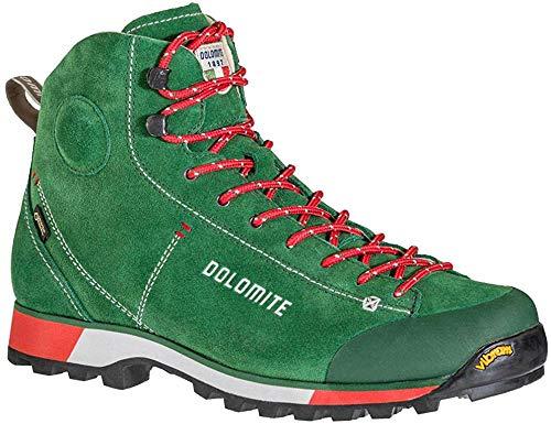 Dolomite Cinquantaquattro Icon GTX wasserdichte Herren Wanderschuhe/Trekkingschuhe mit Goretex (44 EU, Green/red)
