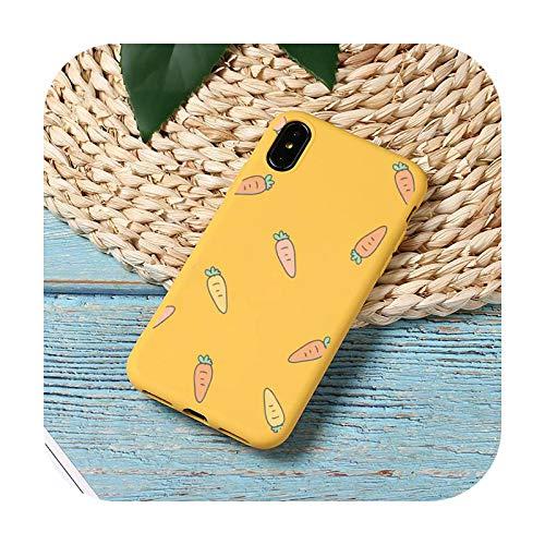 Funda para teléfono móvil con diseño de zanahoria, color caramelo para iPhone 11 12 mini Pro XS MAX 8 7 6 6S Plus X SE 2020 XR-a8-iPhoneX o XS