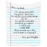 Flannel Blanket – Gift from Daughter to Dad, Personalized Fleece Blanket for Birthday, Anniversary, Holiday, Valentine's Day – 1 Sheet(s1)