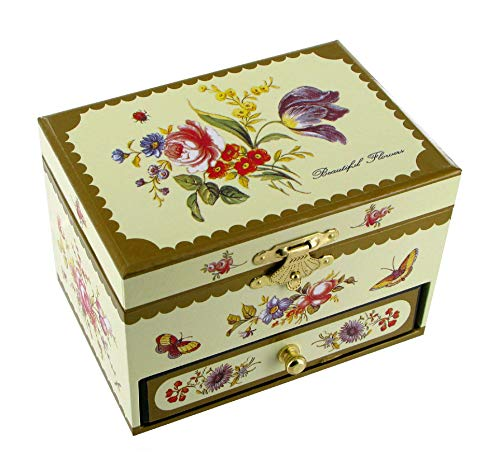 Caja de música para joyas / joyero musical de madera con cajon y bailarina bailadora (Ref: 35-102) - El vals de Amélie Poulain - Amélie - El fabuloso destino de Amélie Poulain (Yann Tiersen)