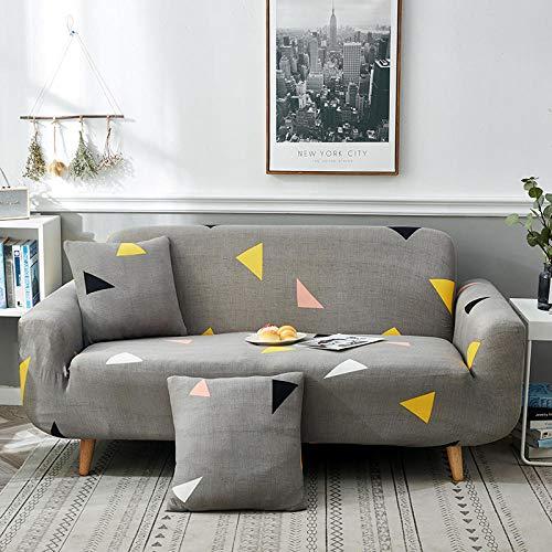 Funda de sofá elástica de 1 Pieza Antideslizante Perezosa Funda de sofá Universal Combinación Todo Incluido Funda Universal Chaise Full con Espuma Antideslizante-Cuatro Personas 235-300cm_Amor Simple