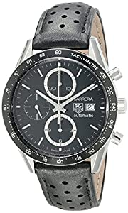 TAG Heuer Men's CV2010.FC6205 Carrera Automatic Chronograph Leather Watch image