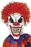 Smiffys Herren Gruseliger Clown Maske, One Size, Weiß und Rot, 35710