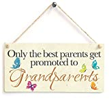 8. Only the best parents get promoted to Grandparents - Wooden Sign Gift