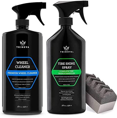 TriNova Wheel Cleaner and Tire Shine Bundle Clean Rims Wheels and Shine Protect Your Tires product image