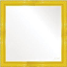 Espelho Brilho Rococo 36X36cm Kapos Amarelo