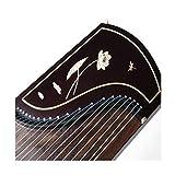 NOLOGO Qyzs-lj Guzheng, Massivholz Boxwood Geschnitzte-Palisander farbige Zither, Profi-Graded-Beschriftungs-Zither, ethnische Orchester (Größe : 170 * 40 * 23CM)