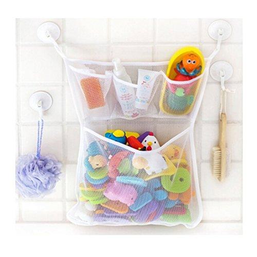 Albeey Badewanne Spielzeug Netztasche Bad Spielzeug Organizer Netz Aufbewahrungstasche mit 2 Saugnäpfe