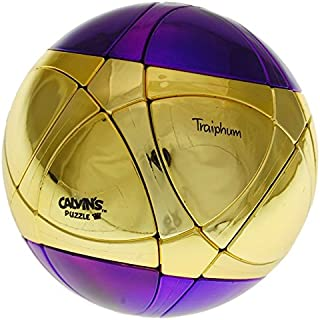 Calvin's Puzzles Traiphum Megaminx Ball - Metallized 2 Color - Middle Gold