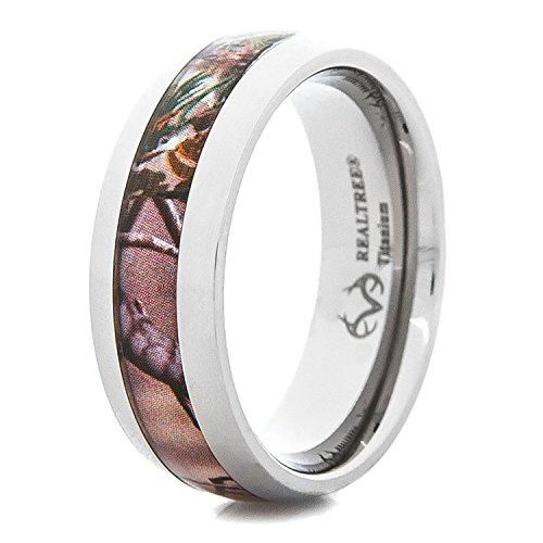 Titanio Realtree AP – Perfil de cúpula de anillo de boda