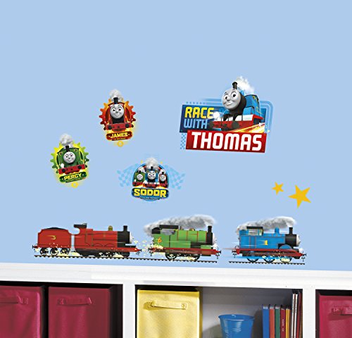 RoomMates Thomas et Ses Amis Racing Stickers muraux, Multicolore, 12.7 x 2.2 x 27 cm