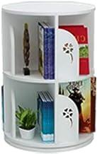 Jcnfa-Shelves Bookshelf Round Revolving Frame Student Bookcase Child Storage Rack Floor Stand, Living Room Study (Color : White, Size : 18.1125.98in)