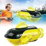 qianqian Ferngesteuertes U-Boot, elektrisches Unterwasserspielzeug mit 3 LED-Lichtern, Vierkanal-U-Boot für Badewanne