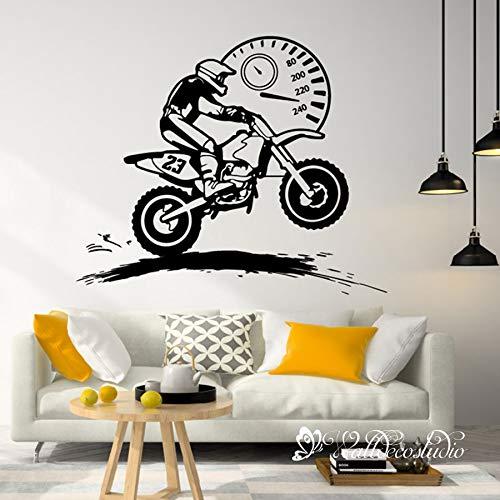 Motorcycle Wall Decal Virginia Beach Mall Sticker Racer Speedo for Bedroom-Motocross Elegant