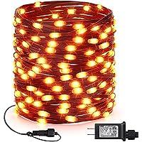 Joomer 66-Feet 200-LED Outdoor Orange Halloween Fairy Lights