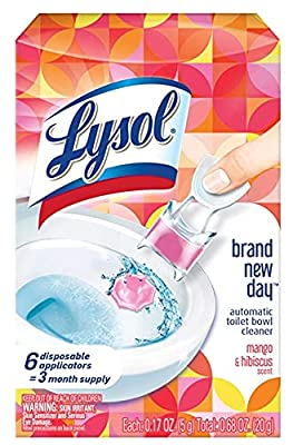 Lysol Lysol Automatic Toilet Bowl Cleaner, Click Gel, Mango & Hibiscus, 6 Count