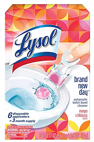 Lysol Lysol Automatic Toilet Bowl Cleaner, Click Gel, Mango & Hibiscus