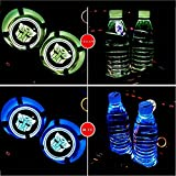 Tonet Newest 7 Colors Changing Car Truck USB Mat Luminescent Cup Bottle Drinks Coaster Pad LED Interior Atmosphere Decal Lamp for Transformer Autobot (Autobot)