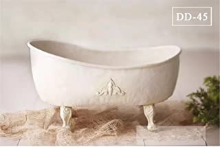 Dvotinst Baby Photography Props for Studio Shoots, Cute and Beautiful Iron Bathtub Posing Props for Newborn Babies