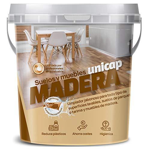 Sikd - Set limpiador suelos y muebles de madera superconcentrado. Ahorra, reduce plásticos. Pack 25 cápsulas hidrosolubles de recambio, pulverizador spray reutilizable multiusos, bayeta microf