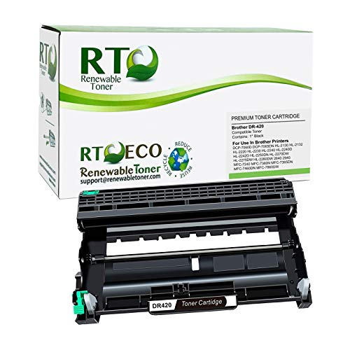 Renewable Toner Compatible Drum Cartridge Replacement for Brother DR420 DR-420 for use in DCP-7060 7065 HL-2130 2132 2220 2230 2240 2242 2250 2270 2275 2280 2840 2940 MFC-7240 7360 7365 7460 7860