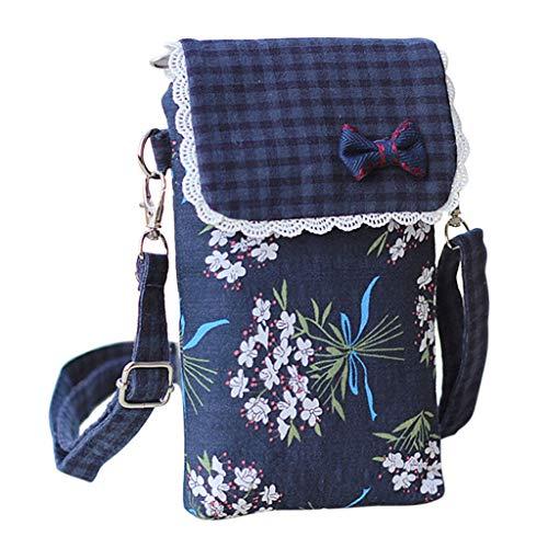 LANDUM Frauen Handy Umhängetasche Crossbody Pouch Gürtel Handtasche Geldbörse Brieftasche
