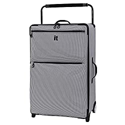 commercial 32.7 inches IT luggage, the world's lightest two-wheeled vehicle in Los Angeles, black / white, all in one size it luggage spinner