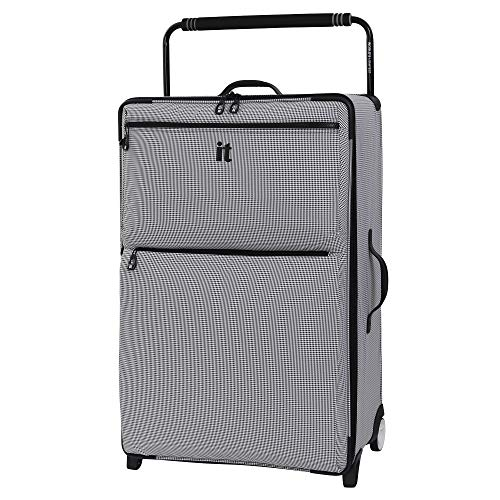 it luggage World's Lightest Los Angeles Softside Upright, Black/White, Checked-Large 33-Inch