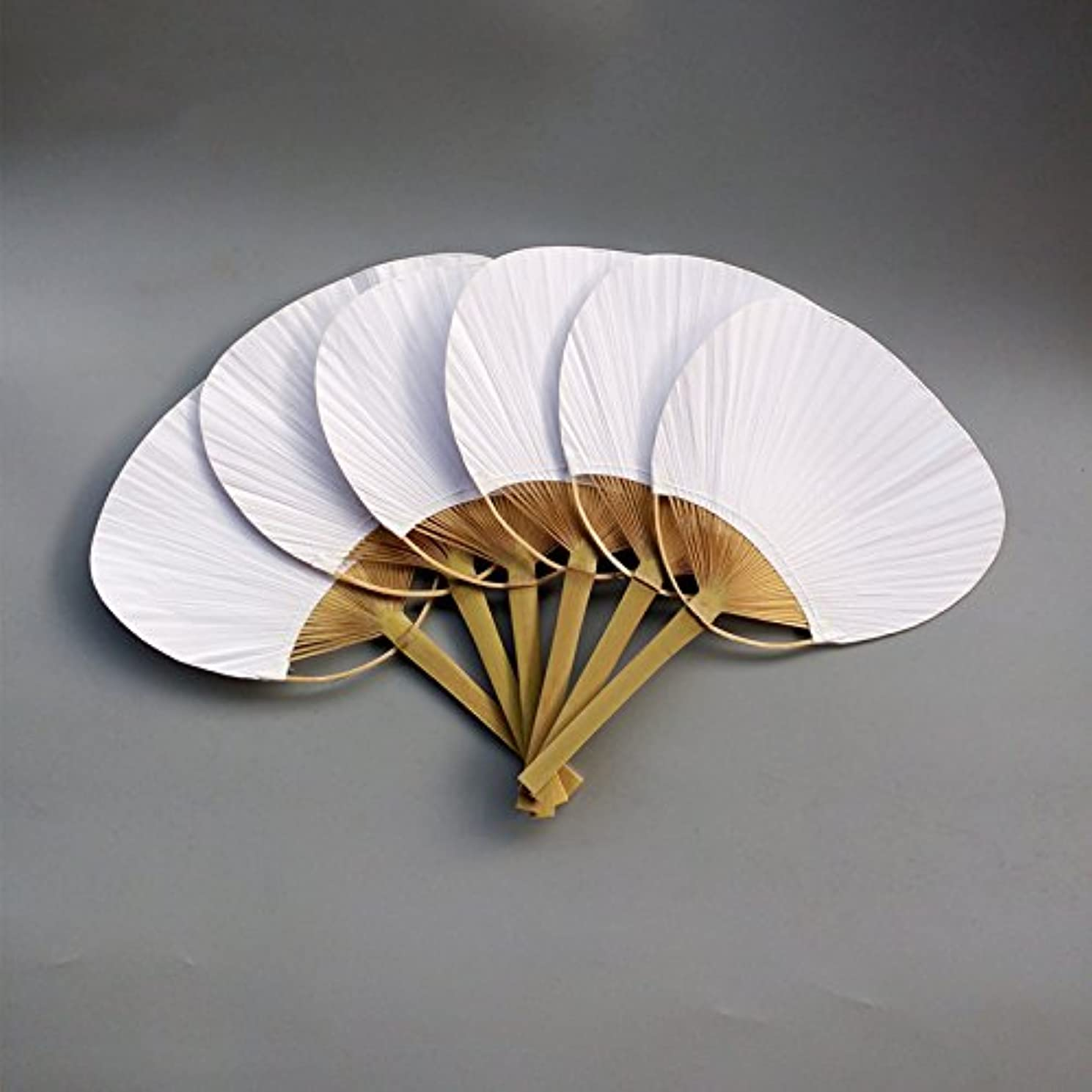 TOOGOO 30 pcs/lot Wedding White Paddle Fan Wedding Decoration