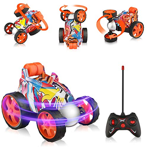 Epoch Air Remote Control Car, Kids Toys RC Car with 360° Rotation Mini Stunt Car Racing Vehicle Motorcycles Gifts for Boys Girls Toddlers Indoor Outdoor Garden Games